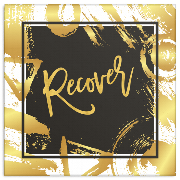 One Word: Recover Gallery Wrap Canvas Wall Art