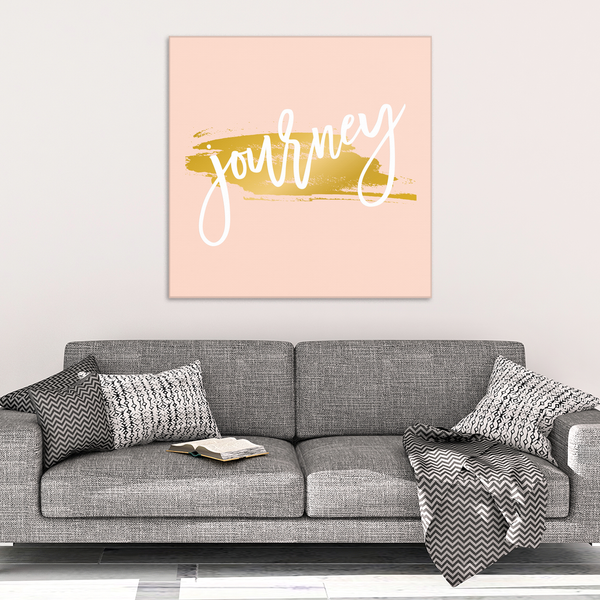 One Word: Journey Gallery Wrap Canvas Wall Art