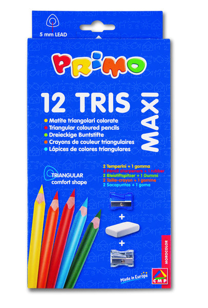 Jumbo Triangle Colour Pencils - 12 box