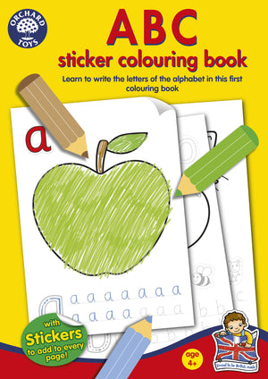 ABC Sticker Colouring Book