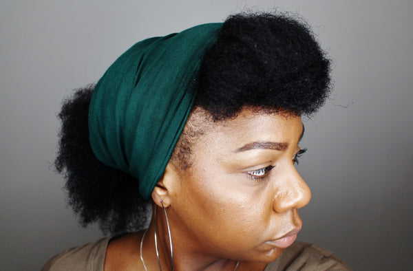 Hunter Green Tube Headwrap