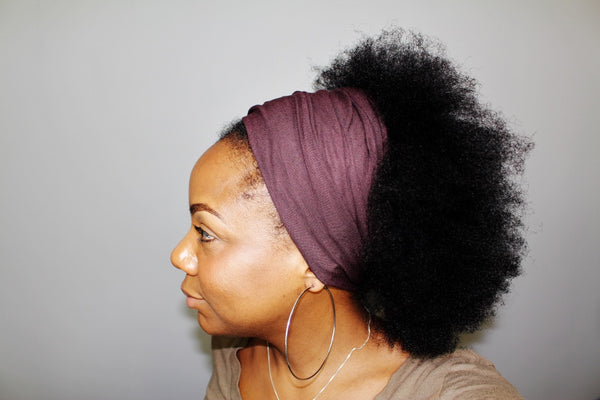 Chocolate Brown Tube Headwrap