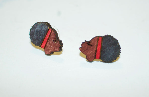 Afro Puff Studs