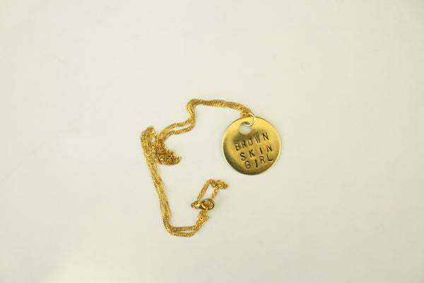 BROWN SKIN GIRL - Brass necklace