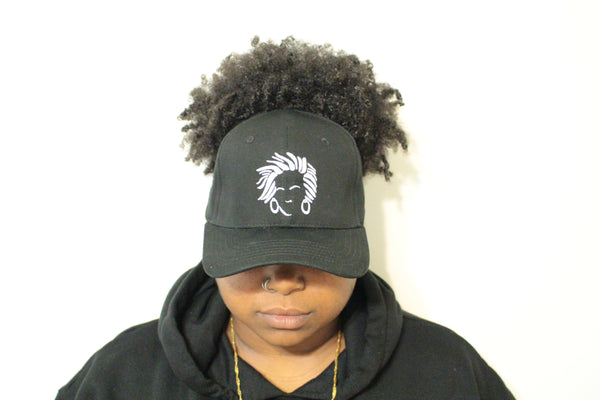 Natural Hair Backless Baseball Cap