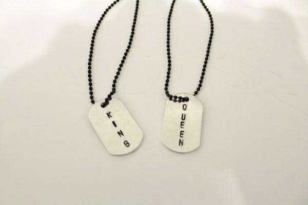 KING and QUEEN Dog tags