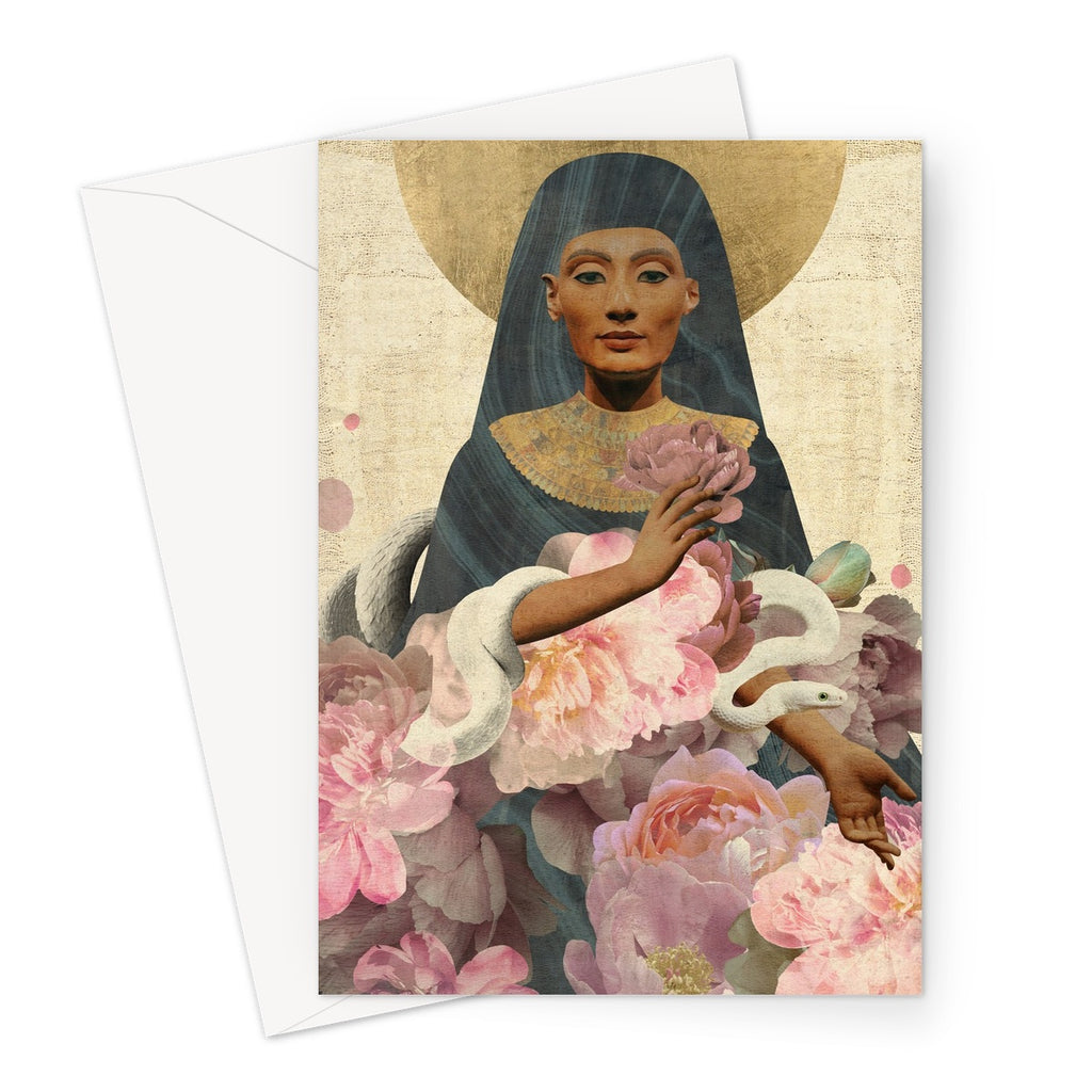 Nefertiti Greeting Card - Starseed Designs Inc.