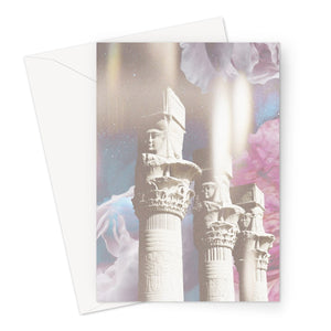 Ancient Temple of Light Greeting Card - Starseed Designs Inc.