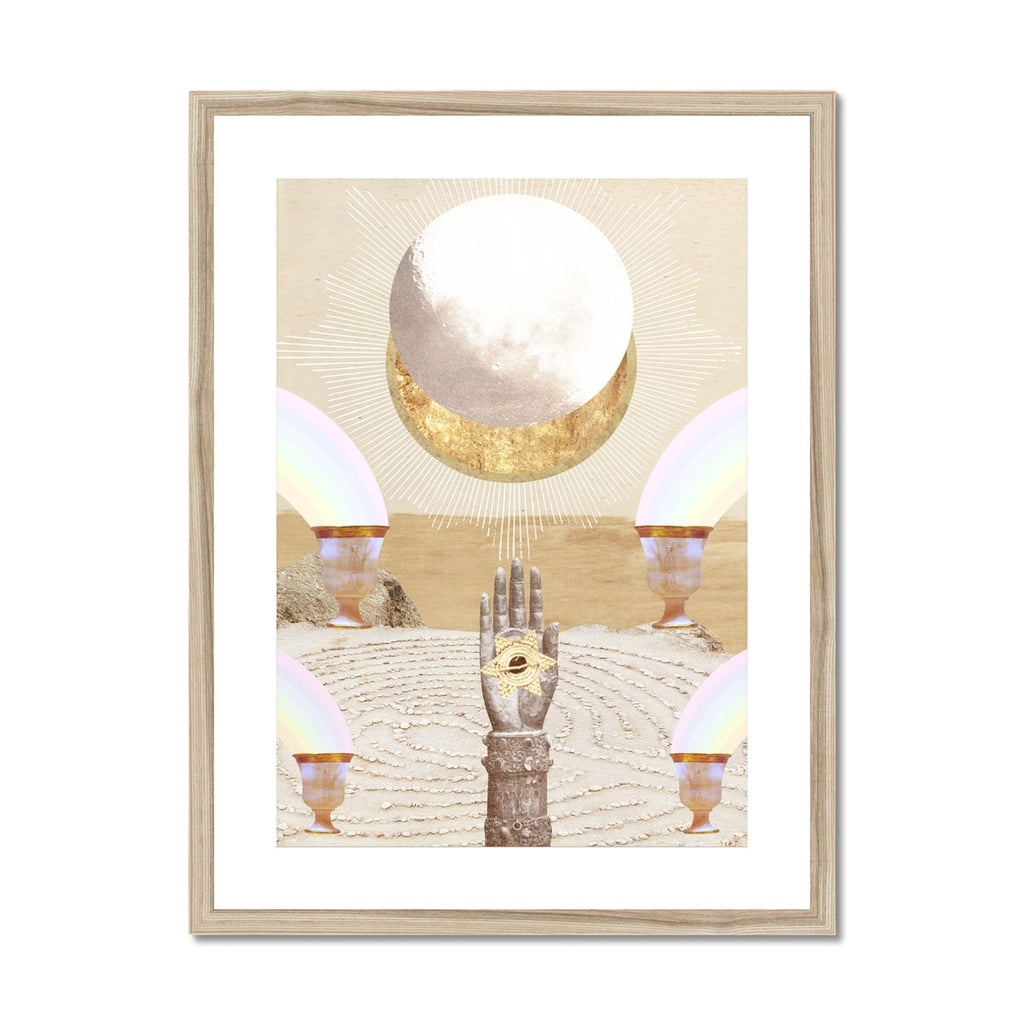 La Luna Framed & Mounted Print - Starseed Designs Inc.