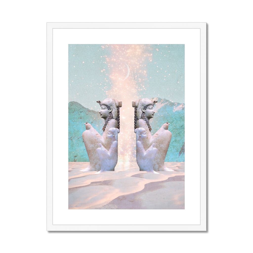 Hathor Dreams Framed & Mounted Print - Starseed Designs Inc.