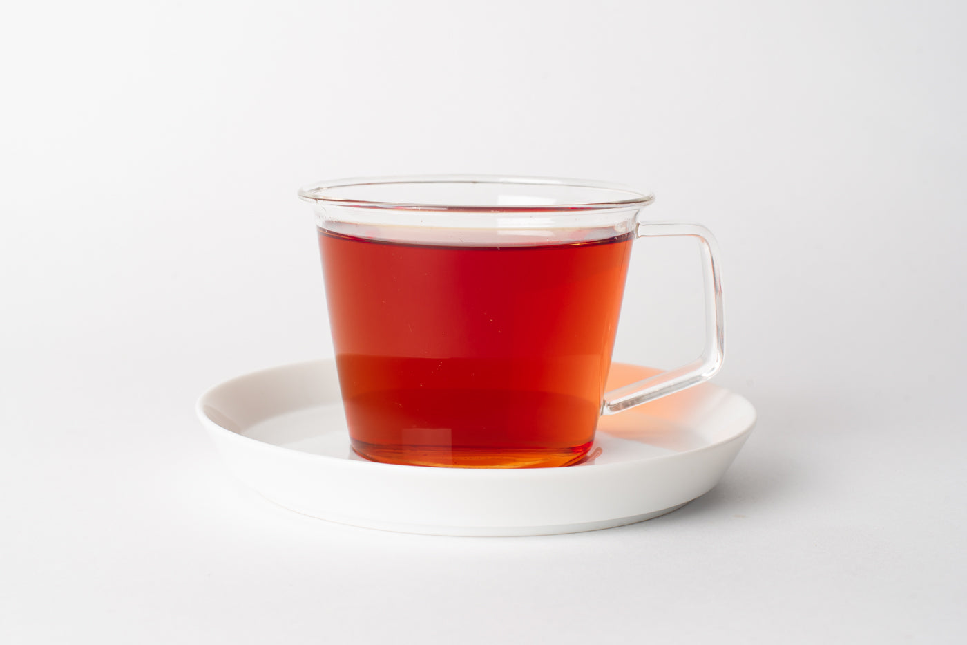 Black Tea Amber Red Colour