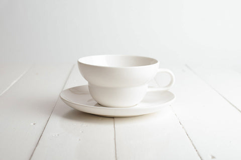 Bibby Tea Cup & Saucer Set - Milk