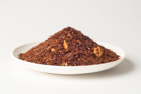 No.880 Maple Walnut - A rooibos based blend this infusion has a nutty aroma with delicious walnut chunks, combined with pieces of cacao bean and chocolate chips.