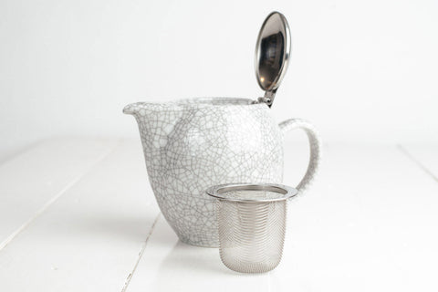 Crackle White Teapot 350ml  - Zero Japan