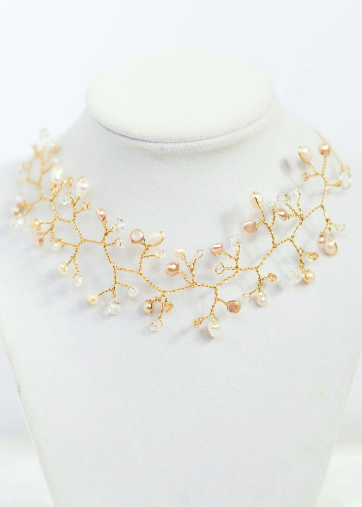vine fashion accessoriesforever pearl com set floral necklace bridal amazon jewelry rhinestone dp prom women wedding