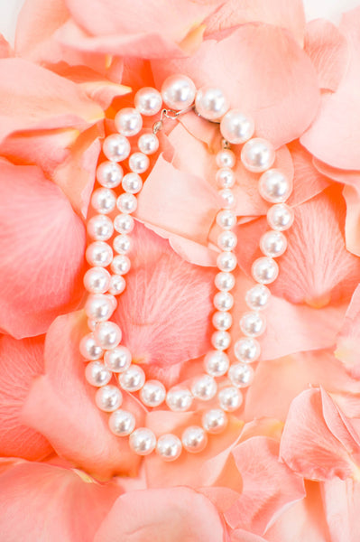 Pearl necklace preppy fashion jewelry classic bridal accessories by J'Adorn Designs