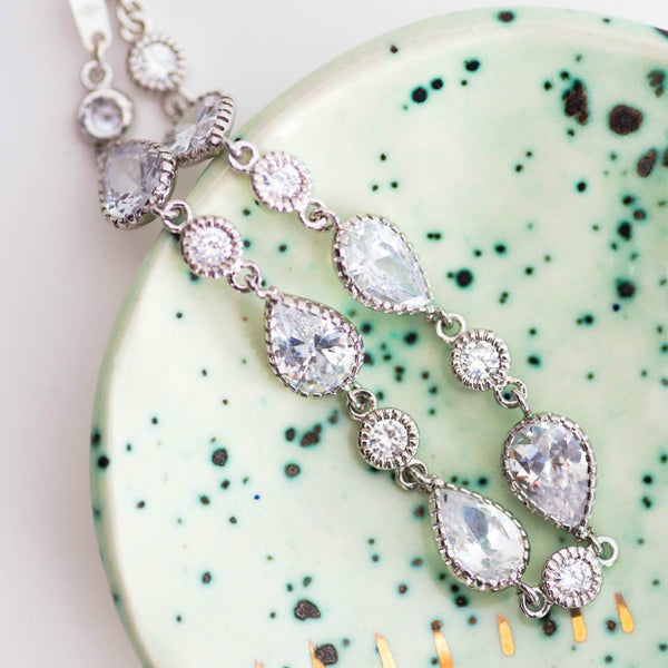 Sparkly bridal bracelet by J'Adorn Designs