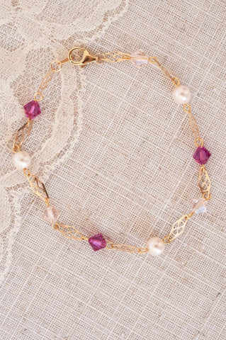 Filigree Bracelet in Pink Confetti