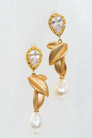Classic pretty bridal earrings by J'Adorn Designs custom jeweler