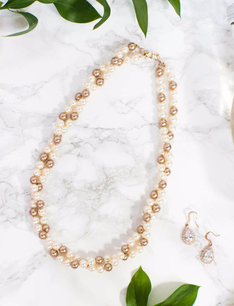 Preppy gift ideas, Twisted pearl necklace, bridal statement necklace by J'Adorn Designs