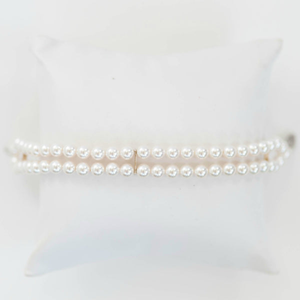 Traditional wedding jewelry, vintage pearl bracelet by J'Adorn Designs