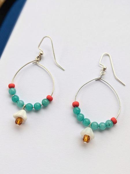 Project Kit: Beaded Hoop Earrings