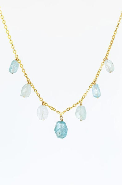 Splash of Blue Tourmaline Necklace