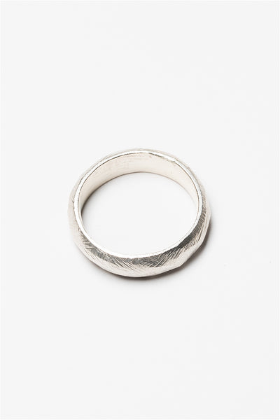 Sterling silver textured angles unisex ring band made by lost wax casting.  Handcrafted artisan jewelry by J'Adorn Designs artisan Alison Jefferies.
