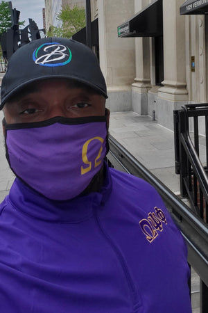 Protected! Ω mouth mask, purple