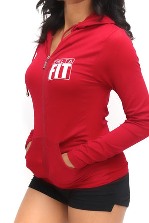 FIT Delta Warm-Up track jacket, crimson