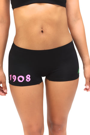1908 FitTight™ mini shorts, black/pink/green