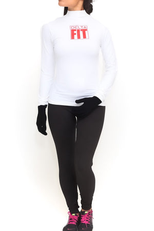 FIT Delta Warm-Up turtleneck, white