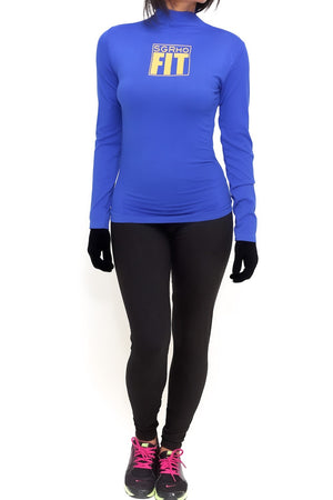 FIT SGRho Warm-Up turtleneck, blue