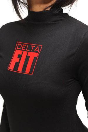 FIT Delta Warm-Up turtleneck, black