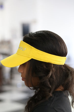 SGRhos Golf visor, gold