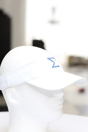 Σ visor, white/blue