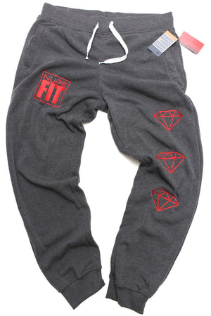 FIT Nupe Diamond joggers, charcoal