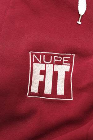 FIT Nupe Diamond joggers, krimson