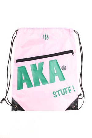 AKA Stuff! quick bag, pink/green (w/slot)