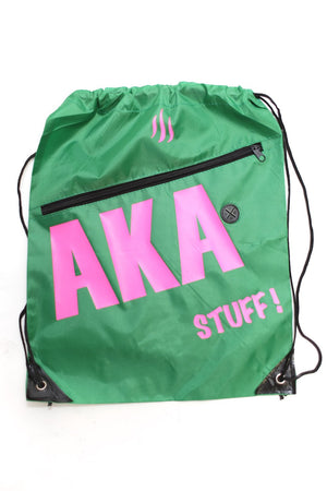 AKA Stuff! quick bag, green/pink (w/slot)