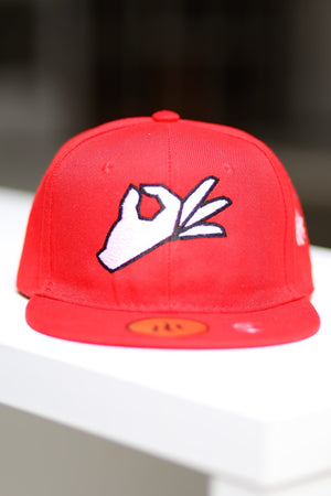 The Yo! fitted cap, red