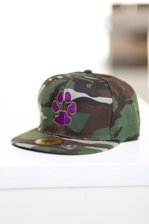 Dawg Pound fitted cap, green camouflage