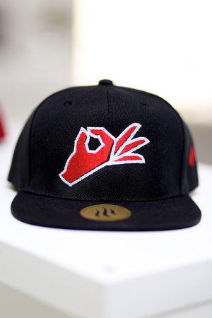 The Yo! fitted cap, black