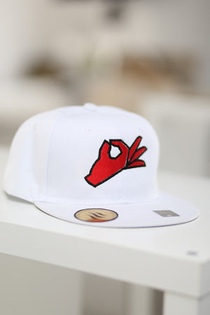 The Yo! fitted cap, white