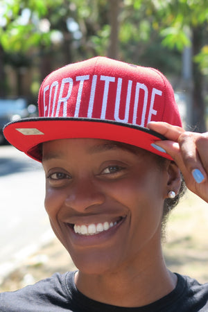 FORTITUDE snapback, red/black