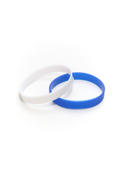 Slick Fitness Power Bands, blue & white pair