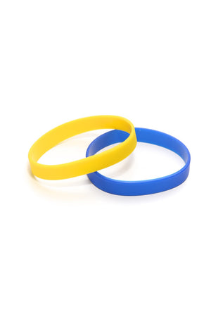 Slick Fitness Power Bands, blue & gold pair