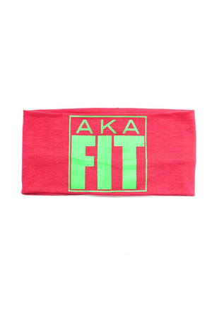 FIT AKA Bondi Band extra-wide, pink/green