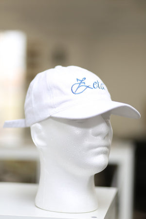 Soror Zeta polo dad hat, white