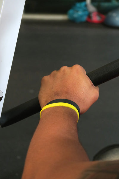 Slick Fitness Power Bands, black & gold pair